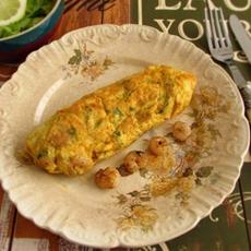 Shrimp omelet