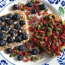 Cashew Butter Toast With Superfruit Berries And Seeds