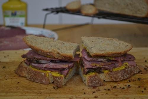 Homemade Pastrami Sandwich
