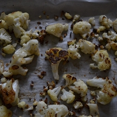 Roasted Cauliflower with Spicy Gremolata