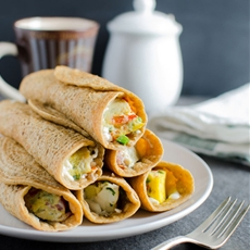 Oatmeal Pancake Egg Roll