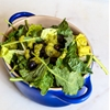 Black Bean and Baby Kale Salad with Spicy Green Dressing