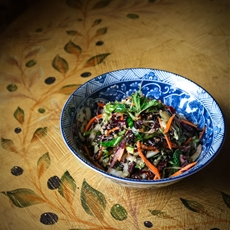 Pressed Cabbage Salad With Ginger Miso Vinaigrette