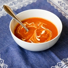 Creamless Tomato Soup with Cumin and Red Pepper Chili Flakes