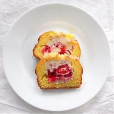 Raspberry Cheesecake-Stuffed Pound Cake