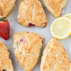 Lemon Cream Cheese Scones with Strawberries