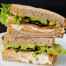 Chicken Guacamole Club Sandwich
