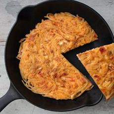 Tasty Pasta Omelette Recipe