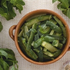 Healthy Minted Courgette Salad Recipe