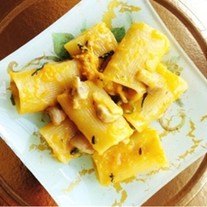Paccheri Pasta with Roasted Pumpkin & Gorgonzola