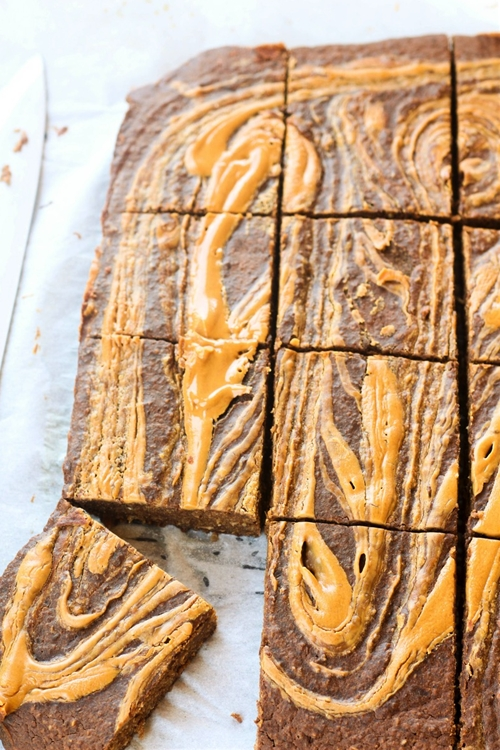 Peanut Butter Swirl Breakfast Brownies (Gluten Free