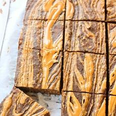 Peanut Butter Swirl Breakfast Brownies (Gluten Free