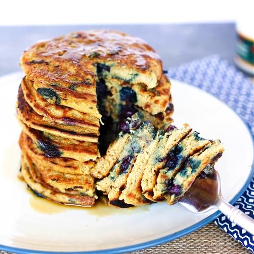 Gluten Free Vegan Protein Pancakes