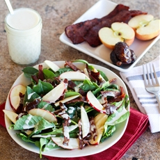 Sweet & Salty Salad With Goat Cheese Dressing