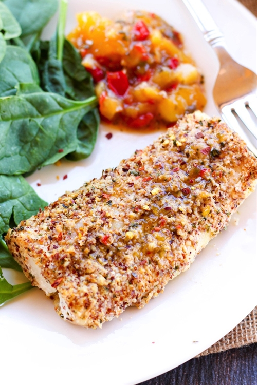 Easy Almond Crusted Cod & Fish Tacos