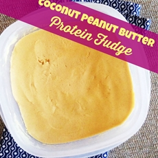 Addictive Peanut Butter Coconut Protein Fudge