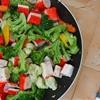 Surimi sticks and veggies, express