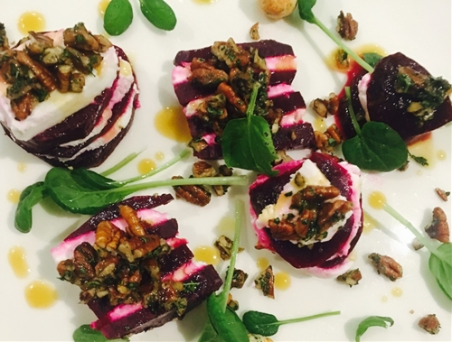 Beet & Goat Cheese Layered Salad