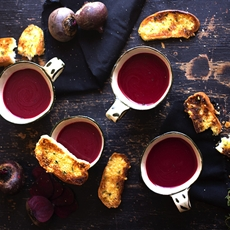Chilled Beetroot Soup with Garlic