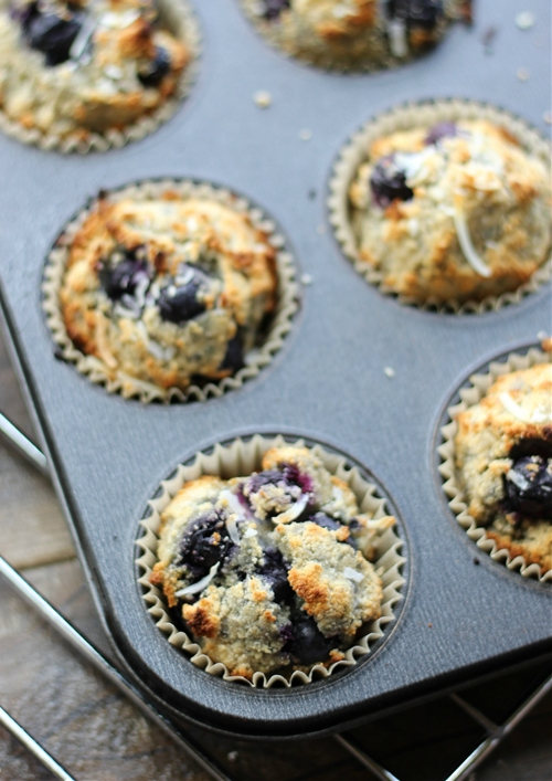 Coconut Blueberry Muffin
