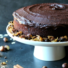 Chocolate Espresso Hazelnut Cake
