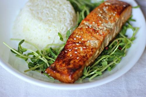 Sesame Teriyaki Salmon In Foil