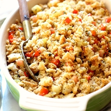 Apple Sage Thanksgiving Stuffing