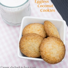 How to make Eggless Coconut Cookies