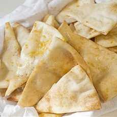 Roasted Garlic Pita Chips
