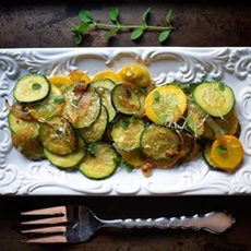 Italian Style Sauteed Onion and Zucchini Rounds
