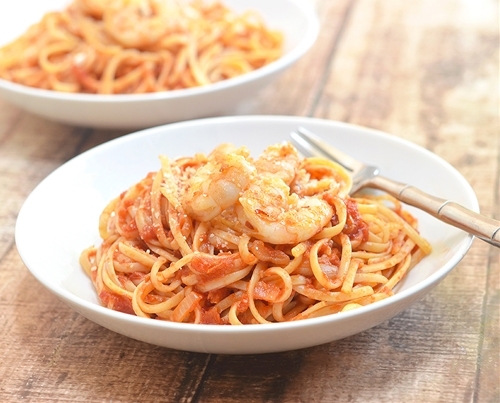 Shrimp and Linguine Fra Diavolo