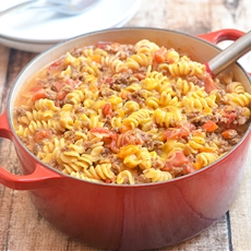 One-Pot Cheeseburger Pasta