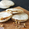 Pita bread with goat cheese and walnut dipper