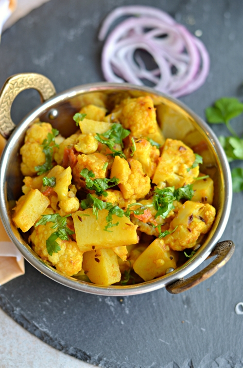 Vegan Cauliflower & potatoes side dish