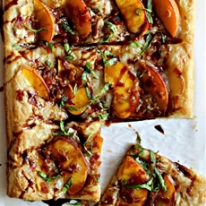 Peach Bacon & Brie Puff Pastry