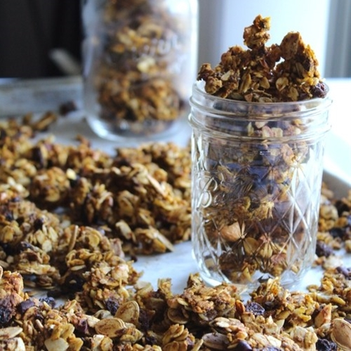 Simple Pumpkin Cocoa Granola