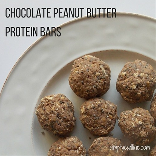 Peanut Butter & Chocolate Protein Balls