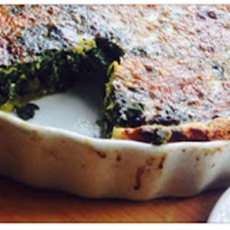 Spinach and Feta quiche ~ Cook with the Book