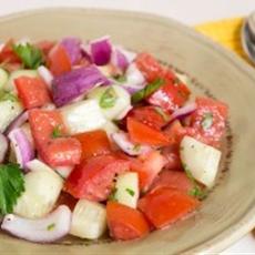 Grandma Hunts Tomato, Cucumber, and Onion Salad