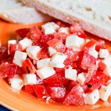 Tomato Mozzarella Bruschetta