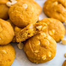 White Chocolate Macadamia Nut Pumpkin Cookies