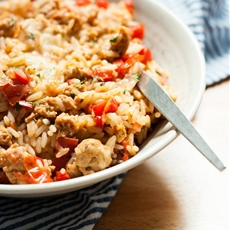Thirty Minute Stuffed Peppers Rice Skillet