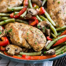 40 Minute One Pot Balsamic Chicken Skillet
