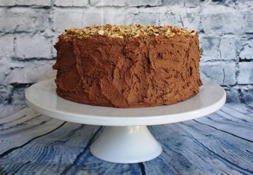 Dark Chocolate Cake with Cocoa-Coffee Buttercream