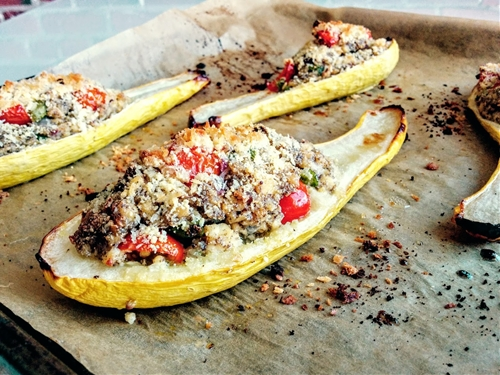 Garden-Stuffed Summer Squash