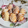 Rose Madeleines with Cardamom Drizzle