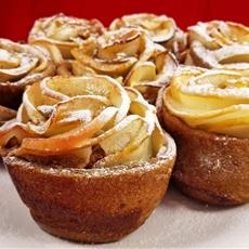 Vegan Baked Apple Roses For Valentine's Day