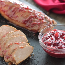 Cranberry Glazed Pork Tenderloin