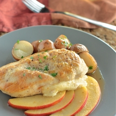 Smoked Gouda Stuffed Chicken with Apples