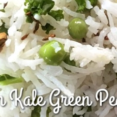 Jeera Rice Pulao with Kale and Green Peas